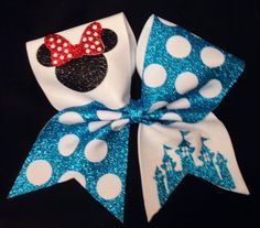 Cheer bow. Disney inspired bow by SarahsCheerBows on Etsy