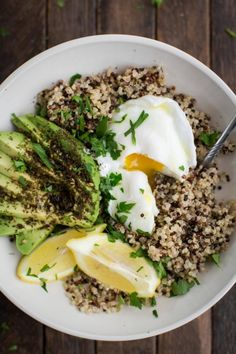 Quinoa Bowl with Za'atar Avocado and Egg