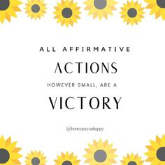 ALL AFFIRMATIVE ACTIONS ARE A VICTORY. Little habits make a BIG DIFFERENCE, and when we feel low, anxious or stressed it's the little things that really count   -> For full post follow the link. Mental Health Recovery Quotes, Affirmative Action, Care Quotes, Anxious, Victorious, Count, Stress, Big, Psychological Stress