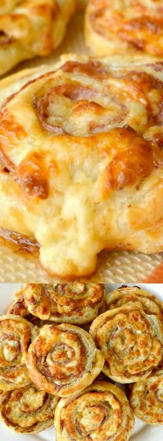 These Cheesy Italian Pinwheels from Gonna Want Seconds might just be the best appetizer EVER! Not only is the recipe super simple to make, but it's incredibly delicious too! They are they are buttery, crispy , delicious, and filled with salami, mustard, cheese — YUM!