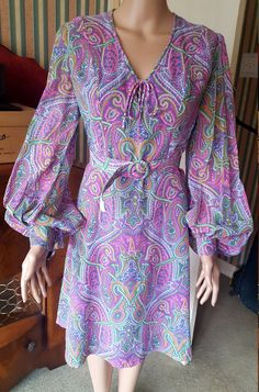 Original 1960s Psychadelic Dress by London Designer Susan Small by TheGlitteratiGoddess on Etsy