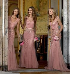 Brides Maid Dress New 2015 Bridesmaid Dresses Pink Tulle Deep V Neck Beading/Sequins Shinning Floor Length Maid Of Honor Dresses Dhyz 01 Long Bridesmaid Dress From Hua_yi_zhang, $125.66  Dhgate.Com