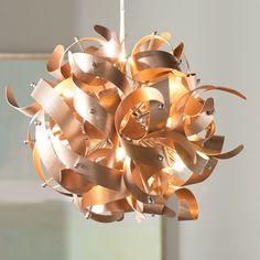 Wade Logan Jaelyn Sputnik Chandelier Finish: Satin Copper, Size: x Wheel Chandelier, Sputnik Chandelier, Chandeliers, Lantern Pendant, Pendant Lighting, Porcelain Jewelry, Fine Porcelain, Porcelain Vase, Painted Porcelain