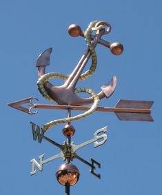 Anchor Weathervane - West Coast Weathervanes