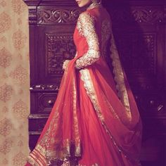 Contemporizing traditional wear is always brilliant! A sense of heritage in the Red Net blends with the exotic detailing of the Sleeve! #ethnicwear #bridaltrousseau #vilarathoughts
