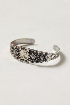 Scalloped Monogram Bracelet - Love this! #anthropologie #mothersday #whattogive