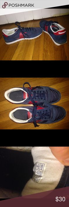 Men's Saucony 8 blue red gently worn Great shoes, show little signs of wear. Saucony Shoes Sneakers