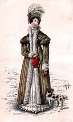 1818 - manteau soie rayée