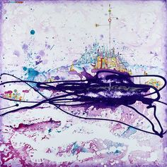 "Salome Hidalgo, ""Mundoaparte XIV"", technika mieszana/ mixed media on canvas, year: 2013, 60 cm x 60 cm"