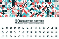 20 GEOMETRIC POSTERS & 70 SHAPES by Vanzyst on @Graphicsauthor