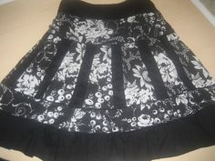 Available @ TrendTrunk.com Black and White Cotton Skirt. By Costa Blanca. Only $28.00!