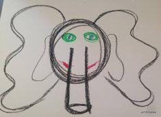 Schrijfdans olifant Safari, Crafts, Blog, Mardi Gras, Drawings, Yoga For Kids, Fine Motor Skills, Heroes, Africa