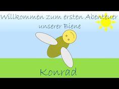 Farben lernen mit der Biene Konrad - Kinder lernen Farben - YouTube