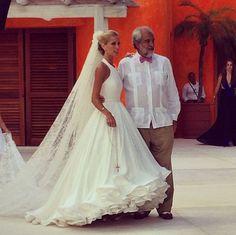 Mary Katrantzou debuts 'cake a flake' wedding dress