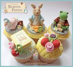 Adorable Beatrix Potter cupcakes by Scrumptious Buns...