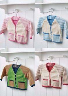 Free Knitting Pattern for an Essential Baby Cardigan Crochet , Free Knitting Pattern for an Essential Baby Cardigan Free Knitting Pattern for an Essential Baby Cardigan Suéter gris. Baby Cardigan Knitting Pattern Free, Beginner Knitting Patterns, Crochet Baby Cardigan, Knitting For Kids, Free Knitting, Knit Crochet, Brei Baby, Baby Sweaters, Baby Patterns