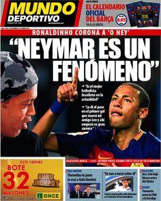 Rassegna stampa estero: Ronaldinho incorona Neymar - http://www.maidirecalcio.com/2015/11/12/rassegna-stampa-estero-ronaldinho-incorona-neymar.html