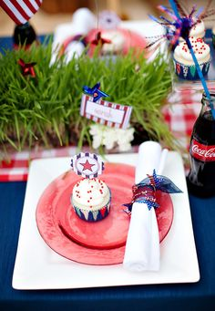 4th of July Plating Idea- fabulous & festive for independence day.