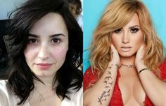 Demi Lovato actually looks prettier and fresher sans <b>make-up</b>! Weirdly ...