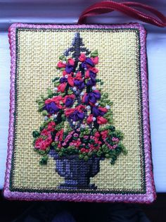 Topiary needlepoint, 2013