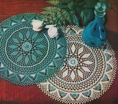 The Glamorous Beaded Doily (Crochet Pattern); PDF http://www.adorish.com/servlet/the-19/Glamorous-Beaded-Doily-%28Vintage/Detail
