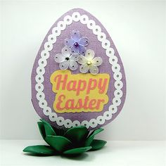 Egg shaped card made from weekly freebie shape in Silhouette Studio
