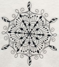 Snowflake Symphony 2 (Blackwork) - Embroidery Library