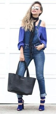 #spring #streetstyle | Shades Of Blue Outfit | Different Colors & Different Styles