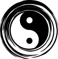 illustrations of yin yang, harmony, balance, silhouette Yin Yang Tattoos, Tatuajes Yin Yang, Public Domain, Feng Shui, Tao, Foto Logo, Karma Tattoo, Ying Y Yang, Off The Map