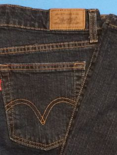 Levis 515 Womens Jeans Blue Denim Stretch Bootcut Mid-Rise 12P Med Dark Wash #Levis #BootCut