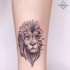 Ideas For Tattoo Ankle Lion Tatoo Lion Head Tattoos, Leo Tattoos, Forearm Tattoos, Body Art Tattoos, Hand Tattoos, Sleeve Tattoos, Female Lion Tattoo, Leo Zodiac Tattoos, Tatoos