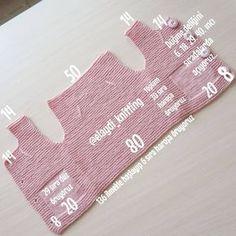 Bebek yelegimizin yapılışı.. erkek kız bebeği de giyebilir ler , rengine göre yaparsanız.. . . #handmade #knitwear #bebeğim #hoşgeldinbebek #babyshower...