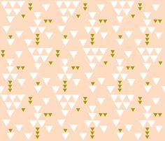blush triangle fall fabric by eivie- so many cute duvet cover ideas!!! I can't handle it, I want to make a billion!