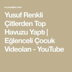 Yusuf Renkli Çitlerden Top Havuzu Yaptı | Eğlenceli Çocuk Videoları - YouTube Chicken Salad Recipes, Youtube, Make It Yourself, Avocado Chicken, Youtubers, Youtube Movies