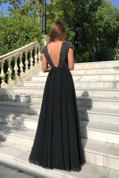 2019 Elegant Crew Cap Sleeves A-Line 2019 Evening Dress Tulle Sequins Front Split Long Prom Gown Item Code: Long Prom Gowns, Prom Dresses, Formal Dresses, Mode Hijab, Formal Prom, Wedding Party Dresses, Ball Gowns, Evening Dresses, Fashion Dresses