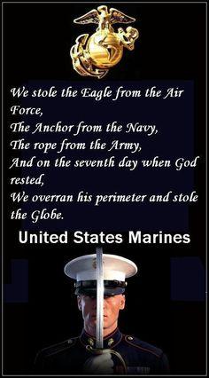 HAHA Cute. Marines got it alllll!