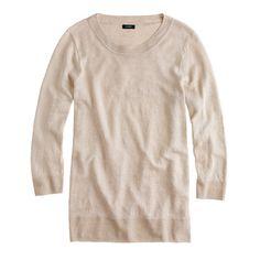 J.Crew Tippi sweater in linen, Flax item 83529 $49.99 #jcrew