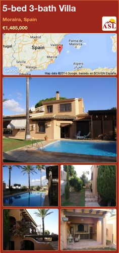 5-bed 3-bath Villa in Moraira, Spain ►€1,485,000 #PropertyForSaleInSpain