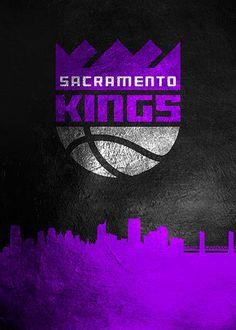Sacramento Kings Skyline 3 poster by from collection. Damian Lillard, Anthony Davis, Basketball Art, Sacramento Kings, Russell Westbrook, Kyrie Irving, Kobe Bryant, Lebron James, Michael Jordan