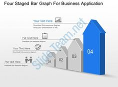 four staged bar graph for business application powerpoint template slide Slide01