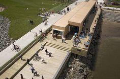 Le pavillon d'accueil au quai des Cageux - © CCNQ, Jonathan Robert