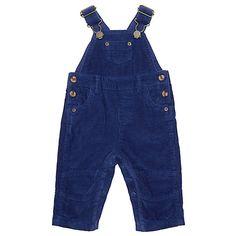 Buy John Lewis Baby Cord Dungarees, Blue Online at johnlewis.com