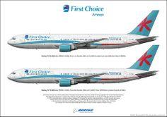 First Choice Airways Boeing 767-324ER G-OOBK G-OOBL Custom Art