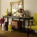 australian country style magazine - Bing Images The citrus colours add life to the rustic charm in this hallway. Love the gum boots!