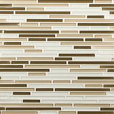 Artistic Tile | Opera Glass Collection; Interlude Gloss Harmonic Lines Mosaic