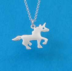 Unicorn Necklace Sterling Silver unicorn pendant Sihouette pendant Kids Necklace Teen jewelry horse jewelry girls mother's day