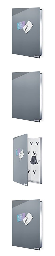 Blomus Velio Glass Magnet Board with Hook Organizer