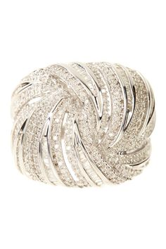 Pave Diamond Twisted Knot Ring - 1.25 ctw