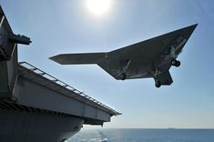 US Navy's Unmanned X47-B Jet Lands On Aircraft Carrier For The First Time