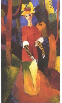 Woman in park - August Macke